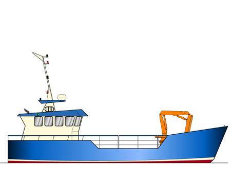 14.94m Landing Craft Work Boat Profile