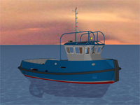 13m Harbour Tug - Macduff FORTH 13 3d profile