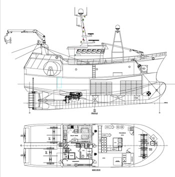 24mtrawlerdetails on gear cad dimensions