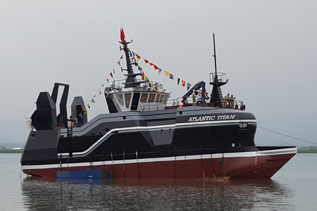 "90′ Fishing Vessel ""Atlantic Titan"" Launched 