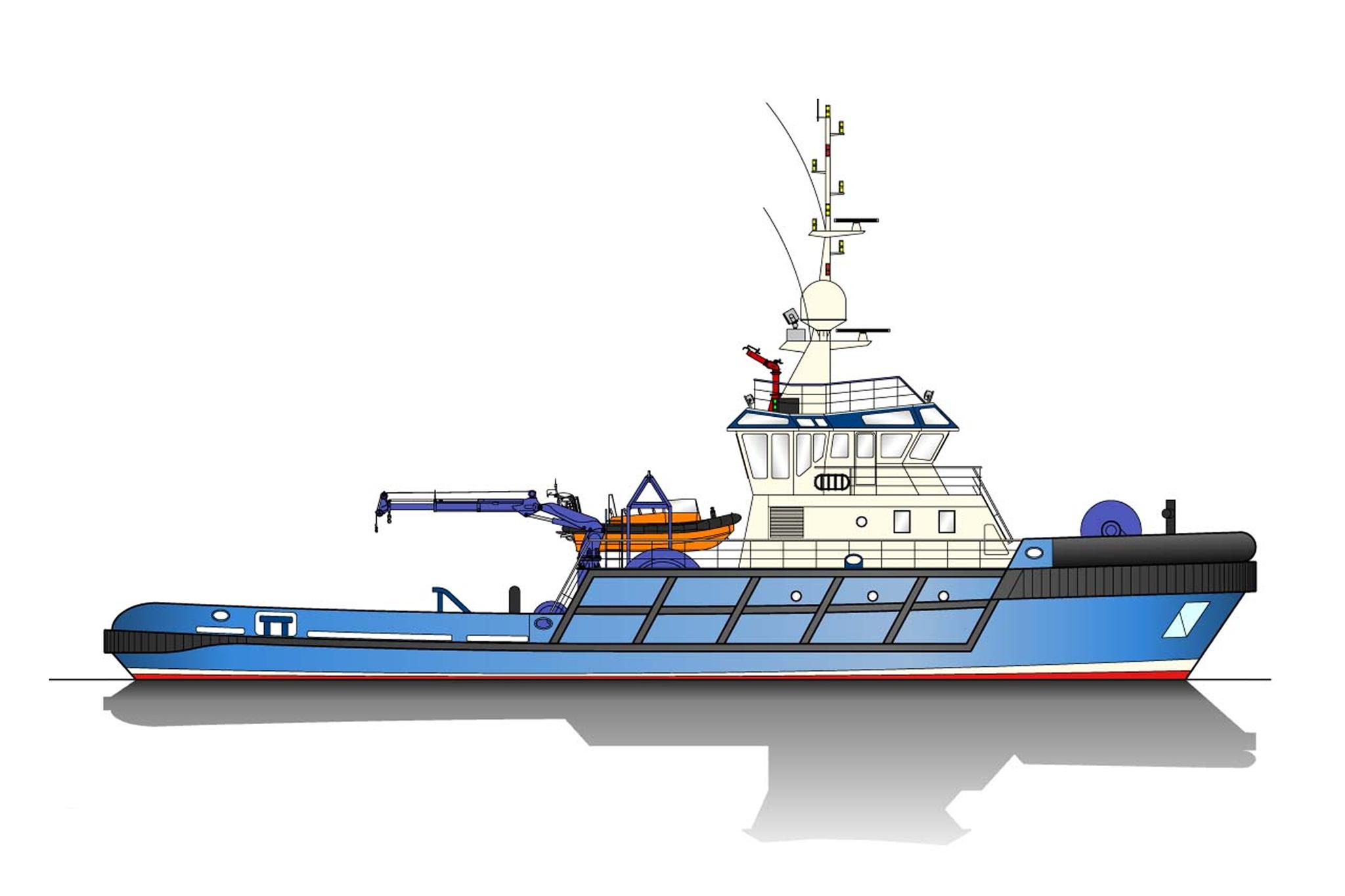 38.00m Tug Profile