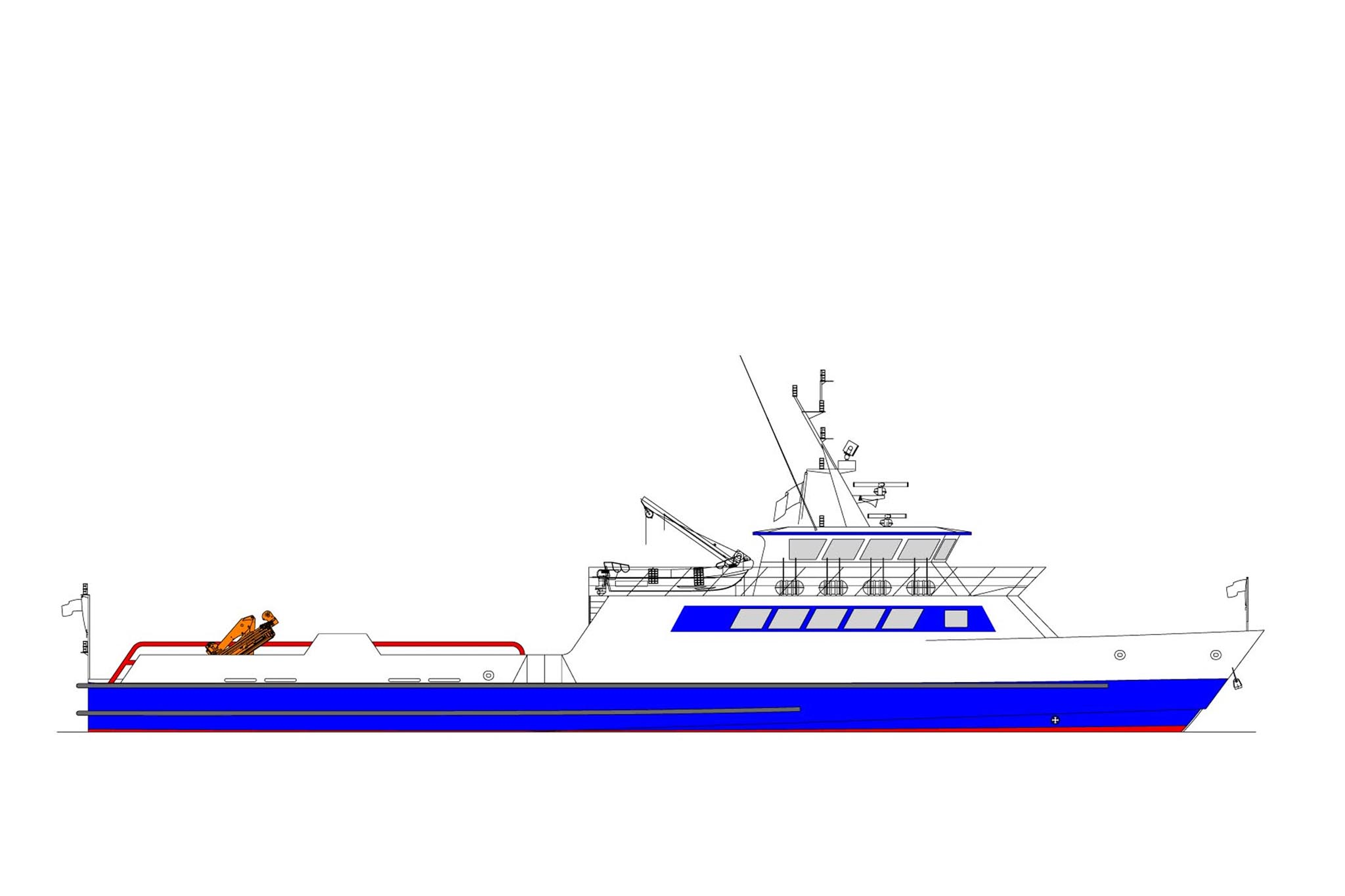 41.00m Crew Vessel Profile