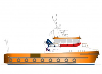 23.00m Catamaran Workboat Profile