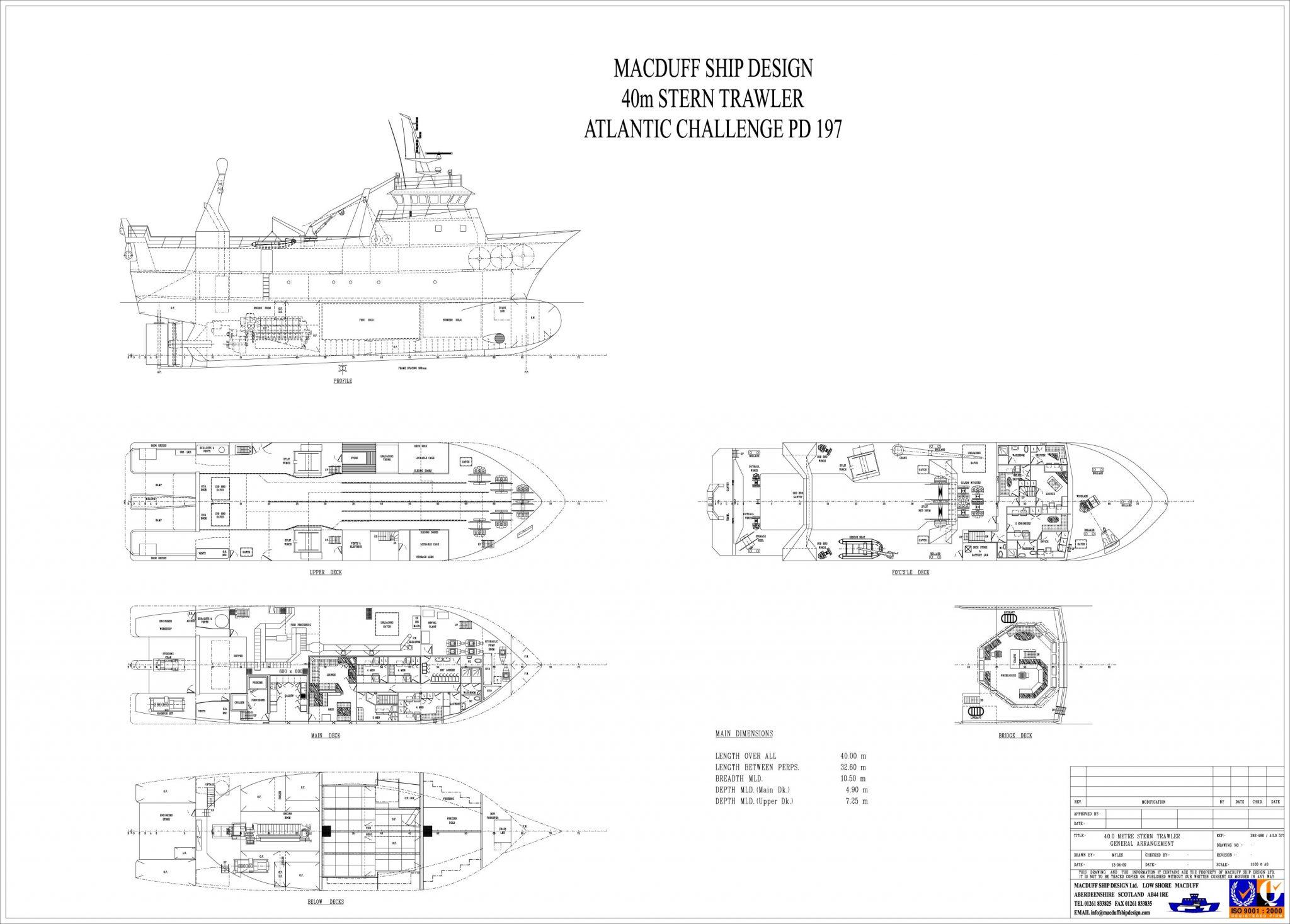 40 00m Trawler | Macduff Ship Design