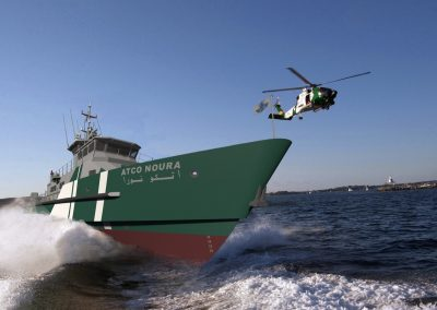 45m Patrol - Helicopter Green & White Strip