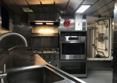 90ft Trawler Galley Photo