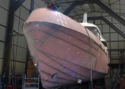 55ft Trawler Yacht Construction Photo